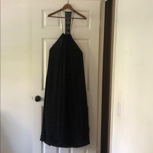 Lucy Love Dresses - Long black summer dress or swimsuit cover up.